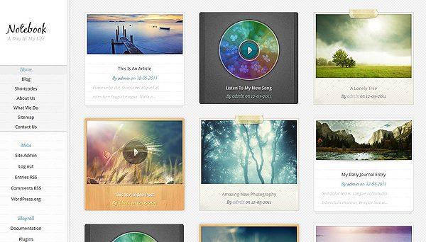 Tema Notebook - Template WordPress