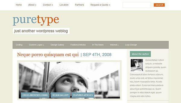 Tema PureType - Template WordPress