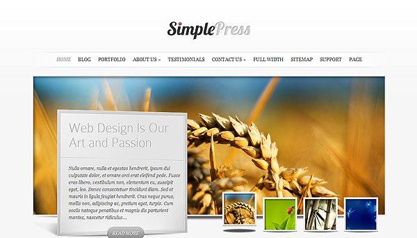 Tema SimplePress - Template WordPress