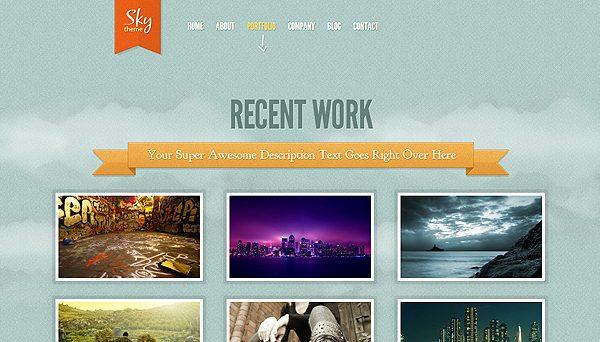 Tema Sky ElegantThemes - Template WordPress