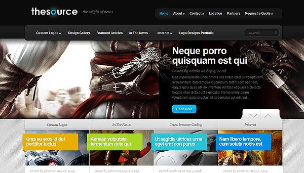 Tema TheSource - Template WordPress