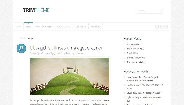 Tema Trim - Template WordPress