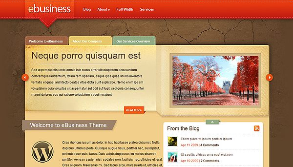 Tema eBusiness ElegantThemes - Template WordPress
