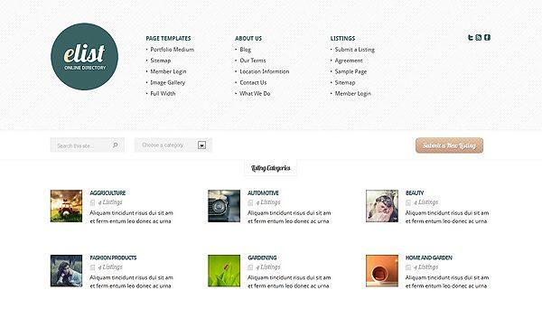Tema eList ElegantThemes - Template WordPress