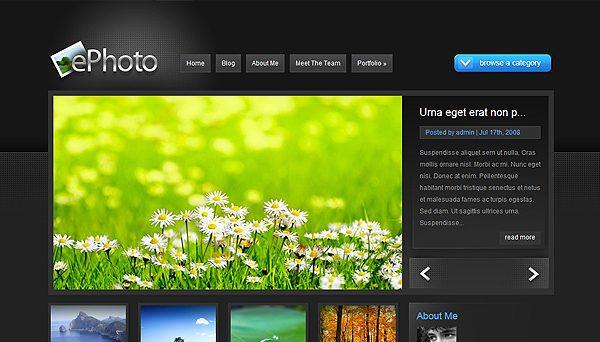 Tema ePhoto ElegantThemes - Template WordPress