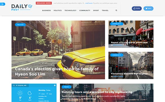 Tema Daily Post - Template WordPress