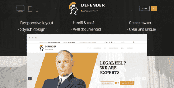 Tema Defender - TEmplate WordPress