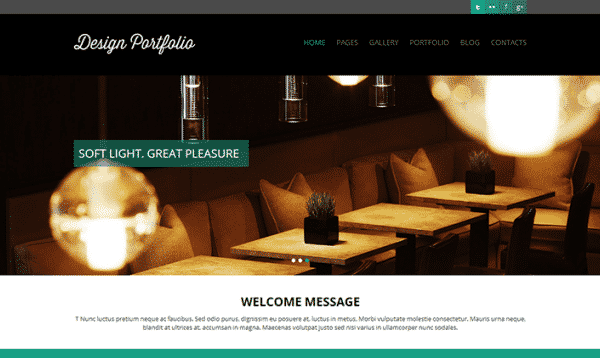 Tema Design Portfolio - TEmplate WordPress