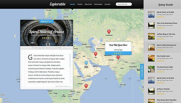 Tema Explorable - Template WordPress