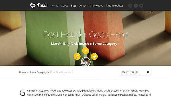 Tema Fable ElegantThemes - Template WordPress