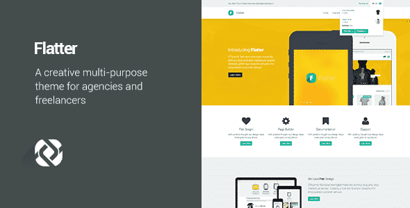 Tema Flatter - Template WordPress