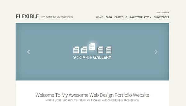 Tema Flexible - Template WordPress