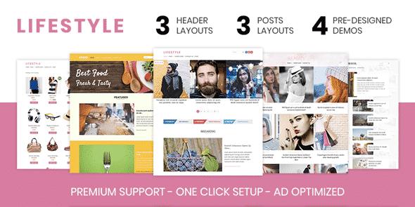 Tema Lifestyle - Template WordPress
