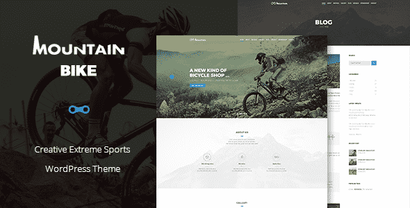 Tema Mountain Bike - Template WordPress