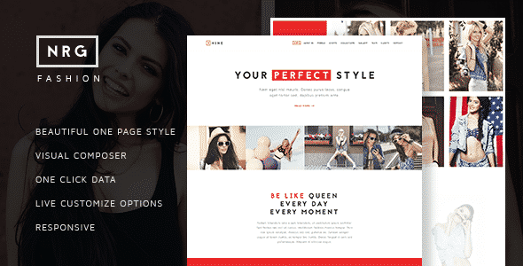 Tema NRG Fashion - Template WordPress