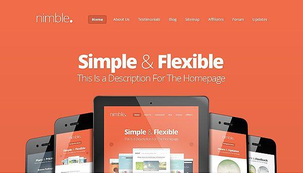 Tema Nimble - Template WordPress