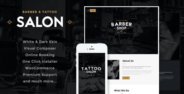 Tema Salon AxiomThemes - Template WordPress