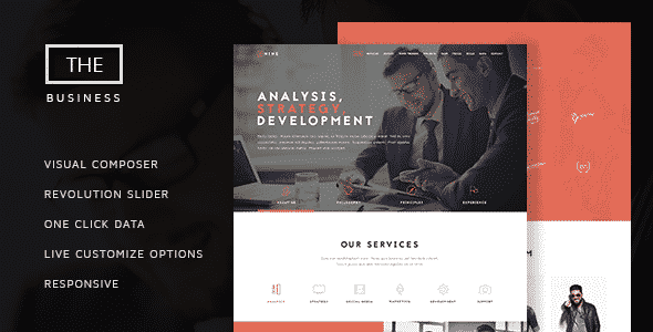 Tema The Business ThemeTon - Template WordPress