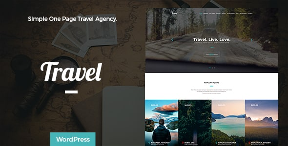 Tema Travel Themeton - Template WordPress