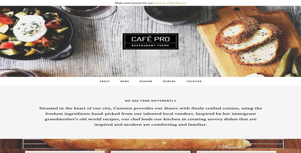 Tema Cafe Pro - Template WordPress