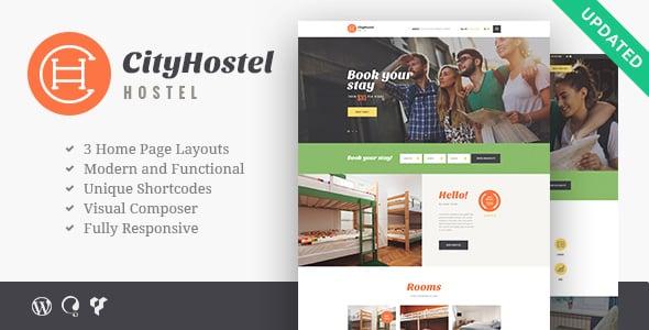 Tema City Hostel - Template WordPress
