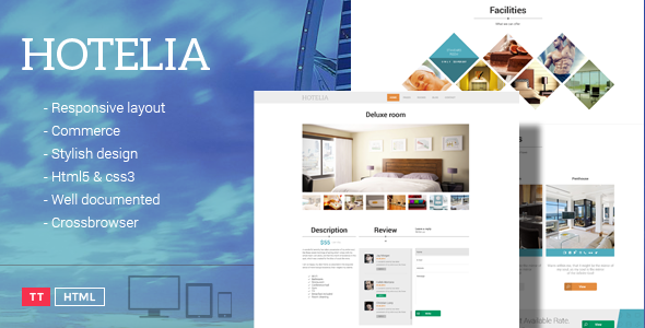 Tema Hotelia - Template WordPress