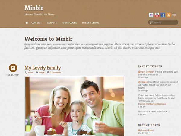 Tema MinBlr - Template WordPress