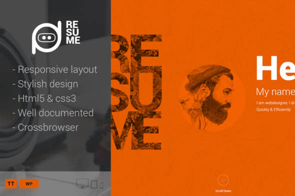 Tema Resume - Template WordPress