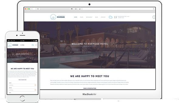 Tema Riverside Resort - Template WordPress