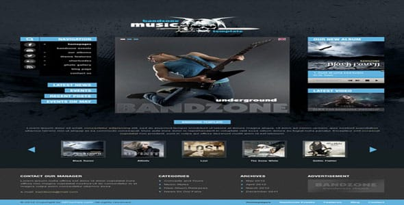 Tema BandZone - Template WordPress