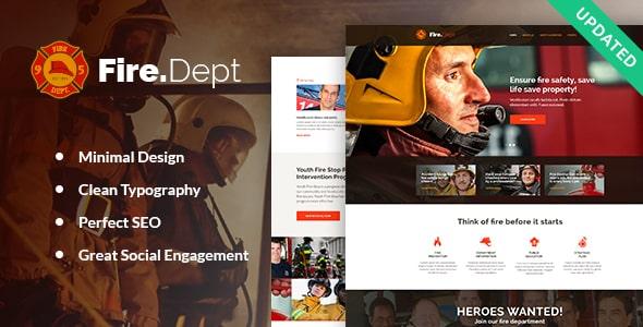 Tema Fire Department - Template WordPress