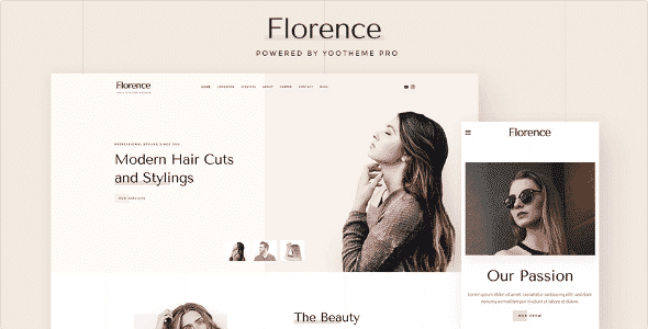Tema Florence YooTheme - Template WordPress