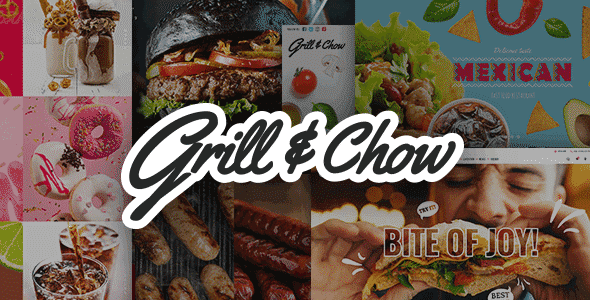 Tema Grill and Chow - Template WordPress