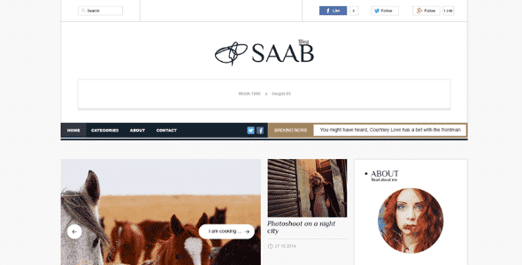 Tema Saab - Template WordPress