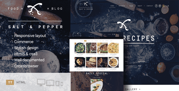 Tema Salt and Pepper - Template WordPress