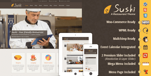 Tema Sushi DesignThemes - Template WordPress
