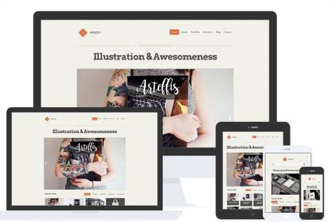 Tema Mozzy - Template WordPress