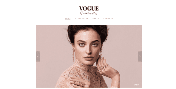 Tema Vogue TeslaThemes - Template WordPress