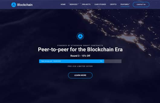 Tema BlockChain - Template Wordpress