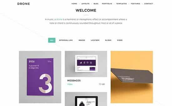 Tema Drone ZigZagPress - Template WordPress