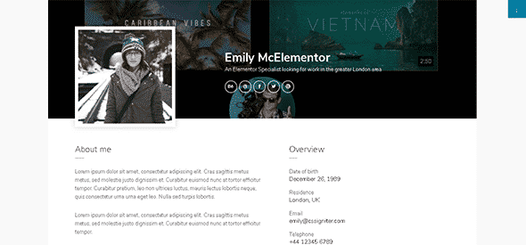 Tema Emily Elementor - Template WordPress
