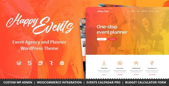 Tema Happy Events - Template WordPress