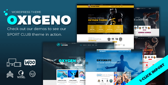 Tema Oxigeno Sport - Template WordPress