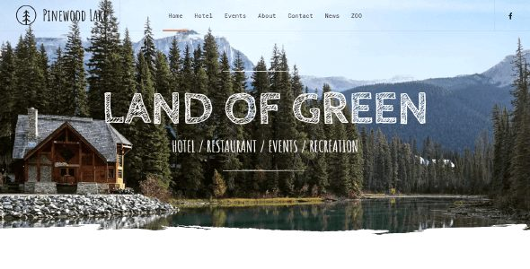 Tema PineWood Lake - Template WordPress