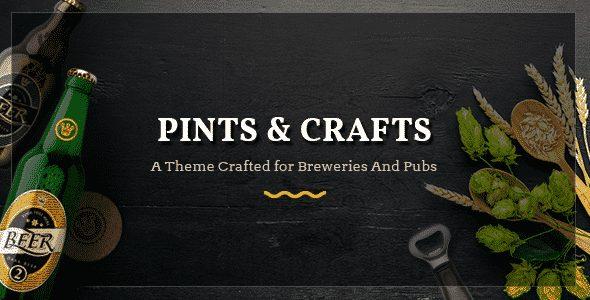Tema Pints and Crafts - Template WordPress
