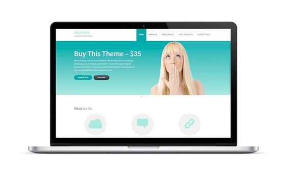 Tema Recreate - Template WordPress
