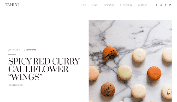 Tema Tahini - Template WordPress