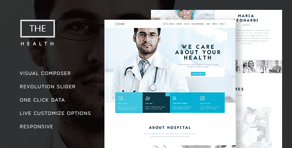 Tema The Hospital - Template WordPress