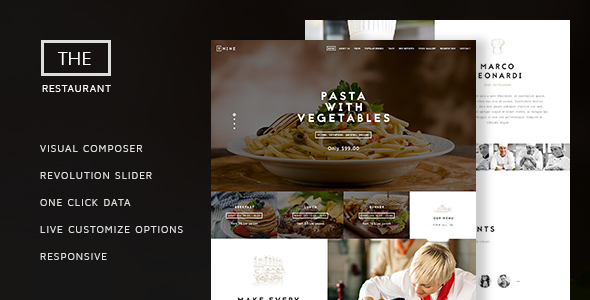 Tema The Restaurant ThemeTon - Template WordPress
