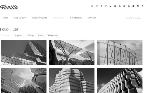 Tema Vanilla ZigZagPress - Template WordPress